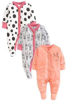 Buy Three Pack Nordic Bunny Sleepsuits (0-2yrs) from the Next UK online shop