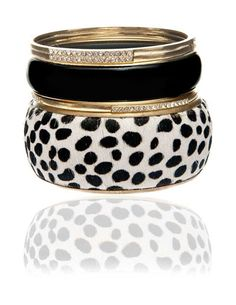 Black white gold cuffs