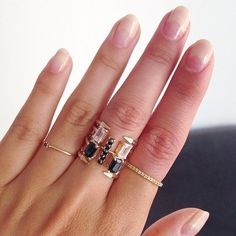 Mirlo stacked rings: