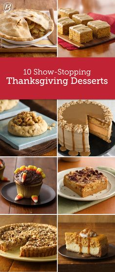 Forget the storebought piesthese impressive Thanksgiving desserts just might steal your turkeys spotlight Pumpkin Cheesecake Pecan Pie Bars and Butter Pecan Thumbprints a. Thanksgiving Desserts, Holiday Desserts, Holiday Baking, Holiday Treats, Thanksgiving Drinks, Thanksgiving Activities, Thanksgiving Sides, Thanksgiving Decorations, Christmas Baking