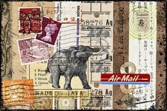 Mammoth Mail photomontage by Carol Leigh