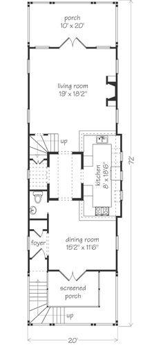Looking for the best house plans? Check out the Summer Breeze plan from Southern Living. Narrow Lot House Plans, Best House Plans, Southern Living House Plans, Unusual Buildings, Garage Apartments, Good House, Summer Breeze, Coastal Homes, Floor Plans