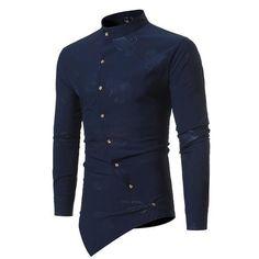 Foil Print Slim Fit Shirt | Shop Online #mensfashion #business #outfit #5iento #shirt #style #apparel #boss