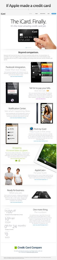 The iCard. Finally. #infographic #apple