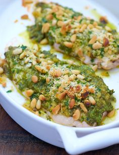 Chicken with a Parmesan Pesto Crust Recipe