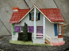 hand made miniature house cottage for sale. A very nice detailed handmade piece of work made by me. Cottage Art, Handmade Home, Miniatures, House Styles, Nice, Houses, Home Decor, Cots, Homes