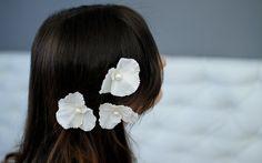Hair Pins Ivory Wedding Hair Accessories SET Mini Hairpiece Hydrangea Flowers on Etsy, £31.42