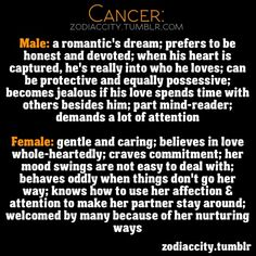 Cancer: Male & Female