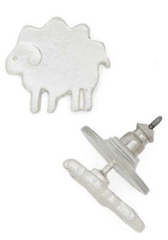 Tres Sheep Earrings, #ModCloth