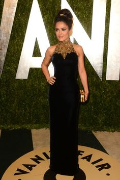 Salma Hayek at Vanity Fair's Oscars After Party [Photo by Tyler Boye]