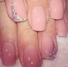 Beautiful Wedding Manicure Idea