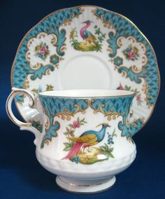 Queen's Bone China Birds Teacup & Saucer