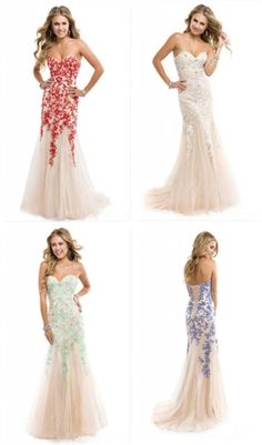 2014 Lace Tulle Long Mermaid wedding dress Evening Formal Prom Dress Party Gown
