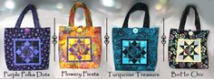 Designer Bali Box Tote Patterns 12 styles to choose from . http://batiktextiles.com/designerbaliboxpatterns.aspx