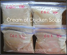 Six Cents: Homemade Cream of Chicken Soup