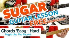 ► Sugar - Maroon 5 - Guitar Lesson - CHORDS (Beginners - Advanced) ✎ FRE...