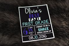 First Day of School Sign by SaraDeToneDesigns on Etsy