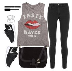 """""""Untitled #1407"""" by anarita11 ❤ liked on Polyvore featuring Billabong, Acne Studios, NIKE and Chanel"""