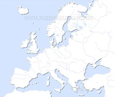 Not Vague Europe Middle East Map Blank Northern Europe Outline Map Central European Map Europe Physical Map Test Map Of Major European Rivers Middle East Map, World Map Continents, Word Map, European Map, Middle School History, Asia Map, Map Outline, Central Europe, Geography