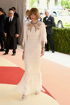 Anna Wintour in Chanel - Best Dressed at the 2016 Met Gala - Photos