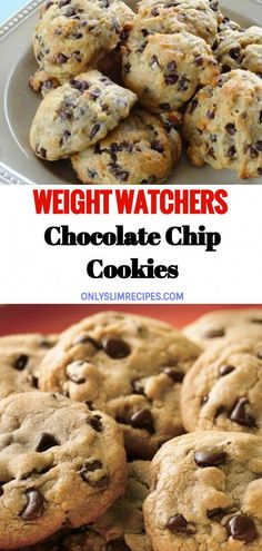 Chocolate Chip Cookies Recipe by Tasty - Recipes Weight Watcher Desserts, Weight Watchers Snacks, Weight Watcher Cookies, Plats Weight Watchers, Weight Loss, Weight Warchers, Ww Desserts, Healthy Dessert Recipes, Cookies