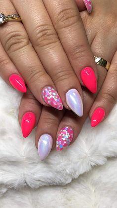 Amazing Nails, Fun Nails, Nail Ideas, Nail Art, Pink Nails, Fingernail Designs, Funny Fails, Nail Arts, Nail Art Ideas