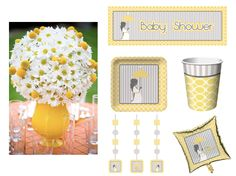 Modern Mom Baby Shower party supplies.