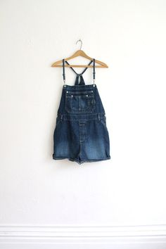 Vintage 90s Dark Denim Overalls // Women's Unique by vauxvintage