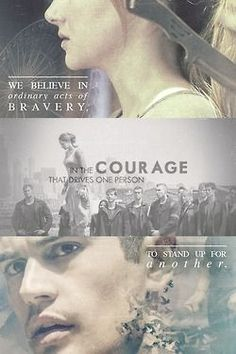 We believe in ordinary acts of bravery.....