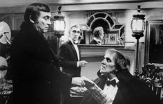 Peter Cushing, Robert Quarry and Vincent Price in Amicus Films' MADHOUSE (1974)