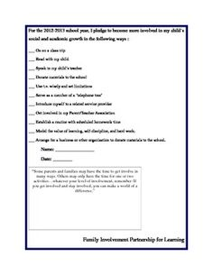 Parent Involvement Pledge - Pinned by @PediaStaff – Please Visit http://ht.ly/63sNt for all our pediatric therapy pins