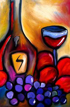 Napa Mix - Abstract Wine Art by Fidostudio