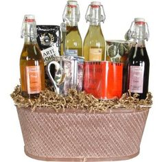 Coffee, Tea and Syrups Luxury Beverage Gift Basket