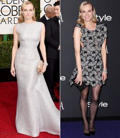Golden Globes 2015: After-Party Looks  #InStyle #DianeKruger