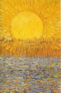 Vincent van Gogh - Le Soleil In this eternal winter, this is the next best thing. Van Gogh hits me harder than any other painter Art Van, Van Gogh Pinturas, Art Amour, Van Gogh Paintings, Renoir, Mellow Yellow, Yellow Art, Colour Yellow, Claude Monet