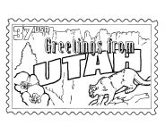 USA-Printables: State of Utah Coloring Pages - Utah tradition and culture coloring pages