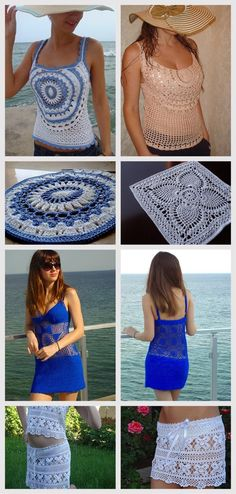 I found amazing knitted dresses for the summer. The author of these sets Zest, to her many thanks fo Crochet Blouse, Knit Dress, Knit Crochet, Crochet Abbreviations, Knitting Needles, Free Pattern, Crochet Patterns, Author, Wool