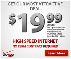 verizon fios available at my address