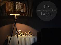 This girl loooves: DIY ::: WASHING MACHINE DRUM LAMP