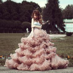 2017 Pink Princess Vintage Tiered Ruffles Silver Sequins Strapless Beaded Crystals Vestido de novia Wedding Dresses Bridal Gowns