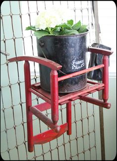 Awesome vintage - don't have a rocking chair but do have a couple of small chairs to use.