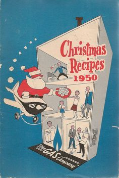 VINTAGE COOK BOOK Christmas Recipes 1950 The Gas by HazelCatkins, $15.00