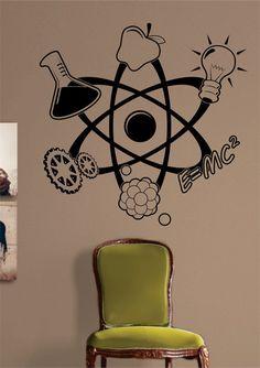 Science Atom Design Decal Sticker Wall Vinyl Art Home Room Decor - boop decals - vinyl decal - vinyl sticker - decals - stickers - wall decal - vinyl stickers - vinyl decals