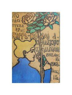 josef rippl-ronai | józsef rippl rónai study for a poster 1902 pencil and charcoal on ...