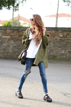 army green, ripped knees | stellawantstodie http://FashionCognoscente.blogspot.com