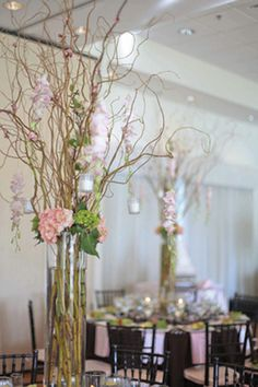 spring wedding centerpiece   This spring wedding centerpiece was a hit! The cherry blossoms, pink ...