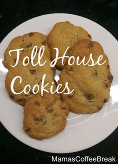 This Original Toll House Cookie recipe is my go to cookie recipe. They are easy to make and turn out yummy every time I bake them. Tollhouse Cookie Recipe, Toll House, Coffee Break, Brown Sugar, Baking Soda, Cookie Recipes, Vegetarian, Cookies, Chocolate