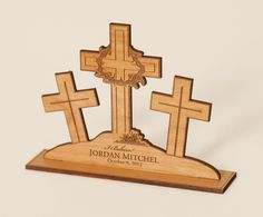 Beautiful religious symbols create wonderful unique gifts Personalized Christmas Gifts, Unique Christmas Gifts, Personalized Signs, Unique Gifts, Engraving Printing, Laser Engraving, Religious Symbols, Engraving Services, Custom Wood Signs