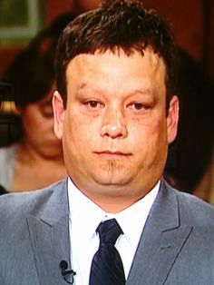Ugly People of Judge Judy, Since this dude looks like Mr. Potato Head, maybe he can borrow some plastic eyebrows.