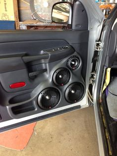 Custom door panels for dodge truck. Custom Car Interior, Truck Interior, Interior Door, Custom Car Audio, Custom Cars, Nissan Sentra, Pick Up, Radios, Car Audio Installation